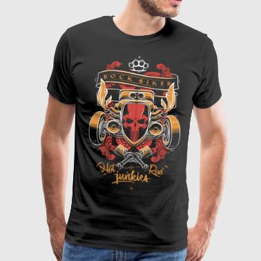 Rock Biker Hot Rod (Full Color Print) - T-shirt Premium Homme