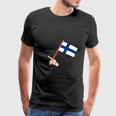 Finnish flag - Men's Premium T-Shirt
