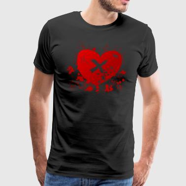 love rune for sex magic hearth blood splatter - Men's Premium T-Shirt