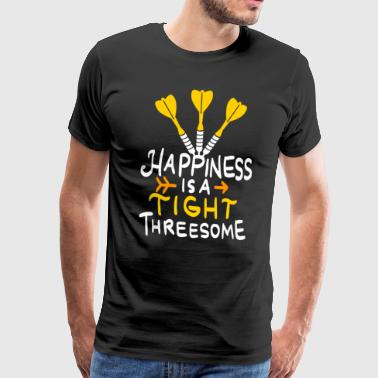 Funny Threesome Dart Shirt - Men's Premium T-Shirt