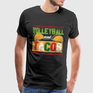 Volleyball and tacos vintage - Men's Premium T-Shirt