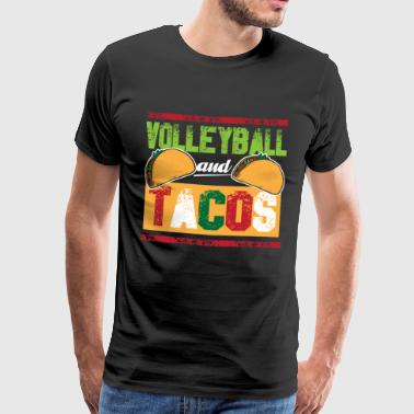 Volleyball og Tacos årlig strandvolleyball - Premium T-skjorte for menn
