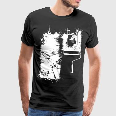 Brush stroke (for dark fabric) - Men's Premium T-Shirt