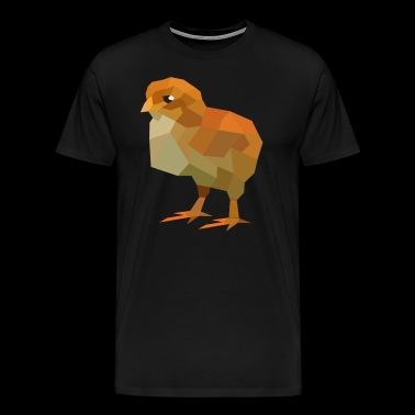 Chick Low Poly - Men's Premium T-Shirt