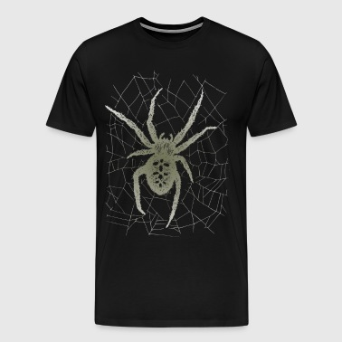 Cross spider in the spider web - Men's Premium T-Shirt