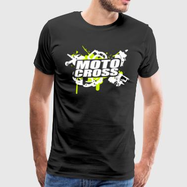 Motocross Supermoto Enduro Vol.I g / w - Premium T-skjorte for menn