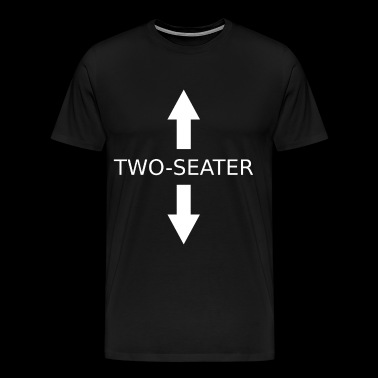Two Seater Funny Shirt Gift - Men's Premium T-Shirt