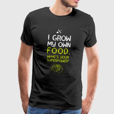 Gardening superfood plants salad vegan garden lol - Men's Premium T-Shirt