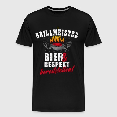 Grillmeister - Provide beer and respect! - Men's Premium T-Shirt