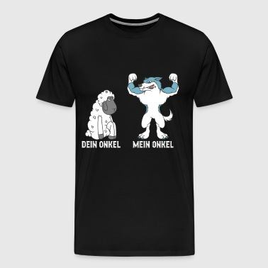 Din farbror My Uncle Wolf Sheep T-Shirt Gift - Premium-T-shirt herr