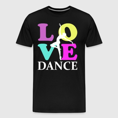 Love Dance Retro Vintage Color - Männer Premium T-Shirt