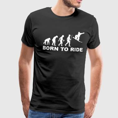 Born to ride wit - Mannen Premium T-shirt
