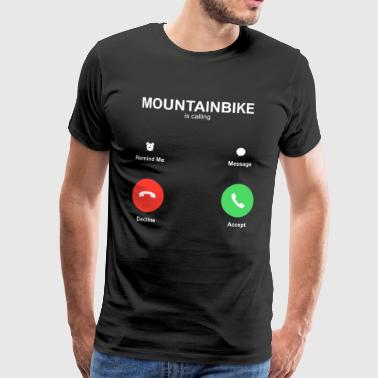 Mountainbiking kalder - Herre premium T-shirt