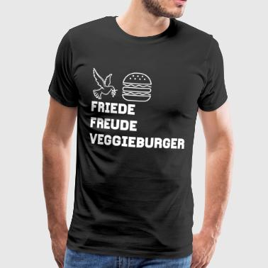 Friede Freude Veggieburger! The Design! - Männer Premium T-Shirt