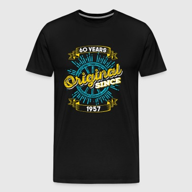 60th birthday 1957 - Men's Premium T-Shirt