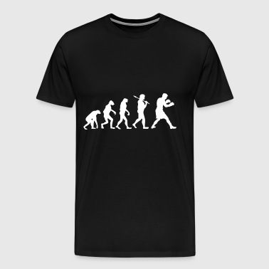 Evolution boxer boxing sport gift fighter - Men's Premium T-Shirt