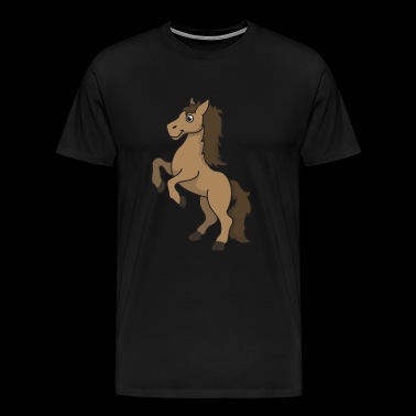 Horse equine gift cartoon riding rider animal - Men's Premium T-Shirt