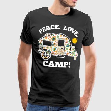 Peace Love Camp - Premium T-skjorte for menn