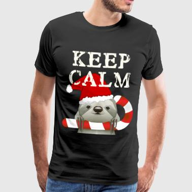 Keep Calm jule - Premium T-skjorte for menn