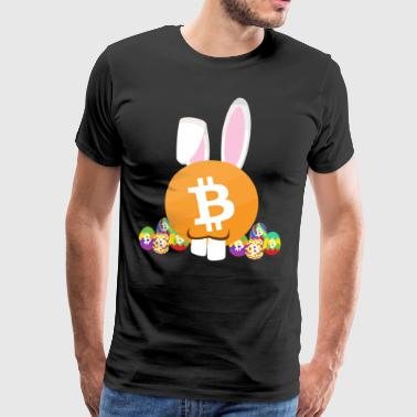 Bitcoin Kryptocoin Easter Bunny God påske gave - Premium T-skjorte for menn