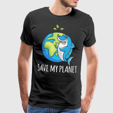 Haaienduiker Earth Day-cadeauomgeving - Mannen Premium T-shirt