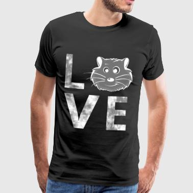 LOVE hamster, guinea pig, love, pet - Men's Premium T-Shirt