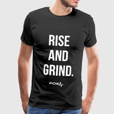 Poker Apparel Rise And Grind - Hvid Version - Herre premium T-shirt