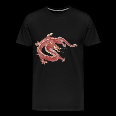 Dragon rouge - T-shirt Premium Homme