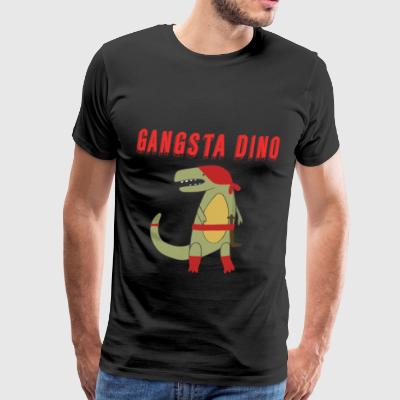 Dinosaur Gangsta Dino Nursery Child Baby - Men's Premium T-Shirt