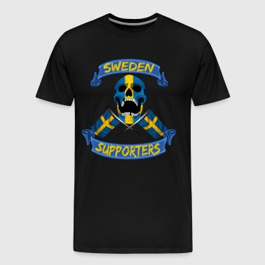 Sweden fan supporter shirt - Men's Premium T-Shirt