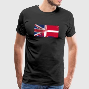 British Danish Half Denmark Half UK Flag - Men's Premium T-Shirt