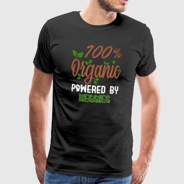 100% Organic Powered by Veggies - Organic - Men's Premium T-Shirt