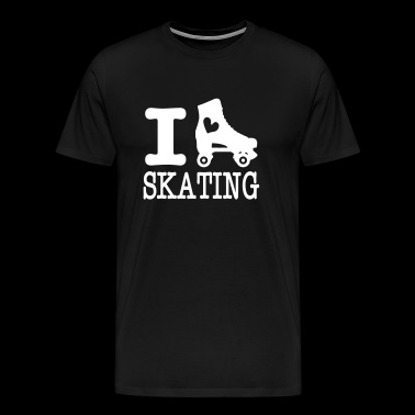 i love skating (with skate) - Men's Premium T-Shirt