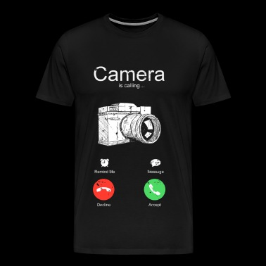 Photography The camera is calling - Men's Premium T-Shirt