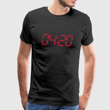 4:20 pm Seven segment digital clock - Men's Premium T-Shirt