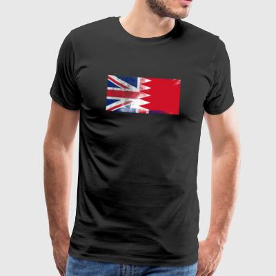 British Bahrains Bahrain Half Half UK Flag - Herre premium T-shirt
