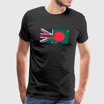 British Bangladesh Half Bangladesh Half UK Flag - Men's Premium T-Shirt