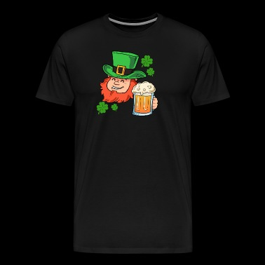 glad Leprechaun - Premium T-skjorte for menn