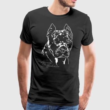 AMERICAN STAFFORDSHIRE Portrait Wilsigns - Men's Premium T-Shirt