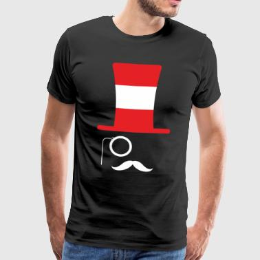 Østrig flag football hipster fan - Herre premium T-shirt