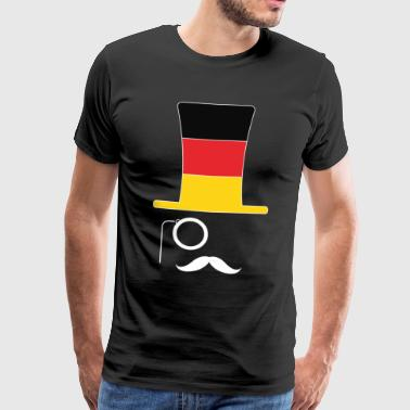 Germany flag soccer hipster fan - Men's Premium T-Shirt