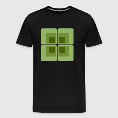 70s pattern 17 green - Men's Premium T-Shirt
