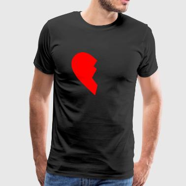 HALF HEART LEFT SIDE - Mannen Premium T-shirt