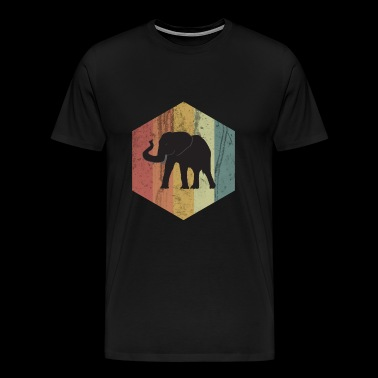 Elephant tusked animal circus africa gift idea - Men's Premium T-Shirt
