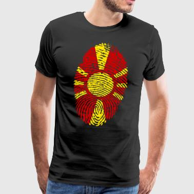 MAZEDONIA FINGERPRINT. BALKAN MACEDONIA - Men's Premium T-Shirt