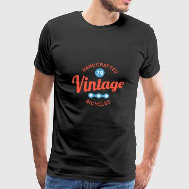 handcrafted vintage bicycles - bicycle - Men's Premium T-Shirt