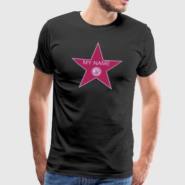 Hollywood walk of fame + your name - Herre premium T-shirt