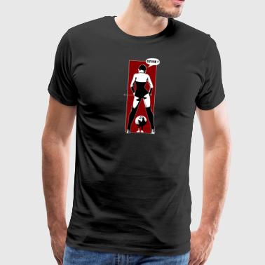 Domina and Chicken - Männer Premium T-Shirt