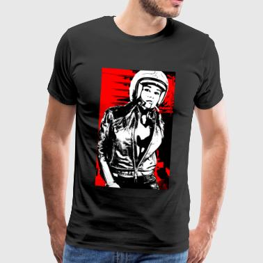 Motorcycle Girl Rockergirl - Men's Premium T-Shirt