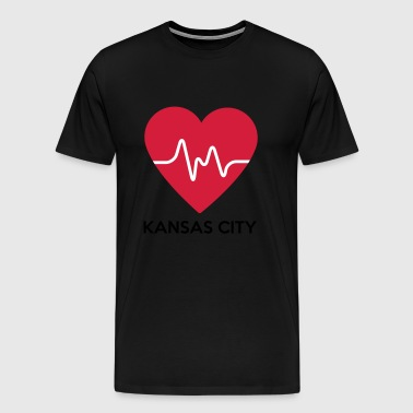 Hjerte Kansas City - Premium T-skjorte for menn